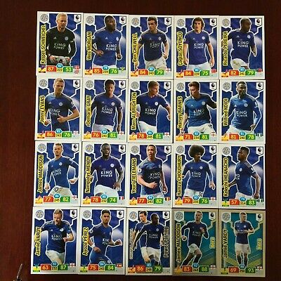 Panini Adrenalyn Xl Premier League 2019/20 Leicester City 20 Card Base/Hero Set