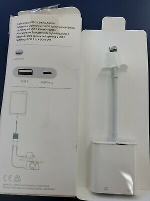 Apple Lightning to USB 3 Camera Adapter MK0W2AM/A (Model A1619) for iPads iPhone