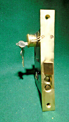 VINTAGE: RUSSWIN # 11248 1/2 ENTRY LOCK w/NEW CYLINDER & KEYS (12658)
