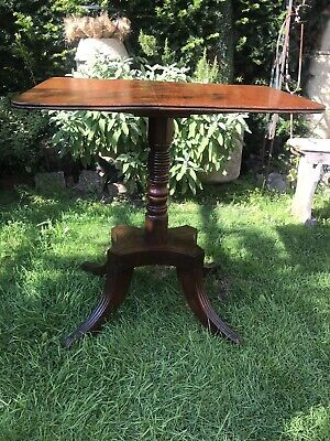 Antique Flip Top Table. Small Occasional Table Desk Beautiful Mahogany