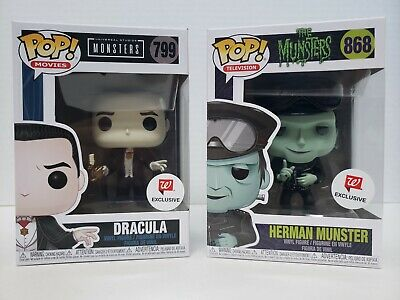 Funko Pop! Horror Lot of 2 Dracula & Biker Herman Munster Walgreens Exclusive