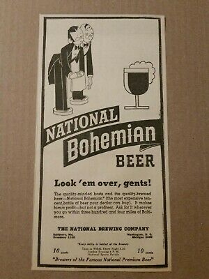 1939 National Bohemian Beer Newspaper Ad