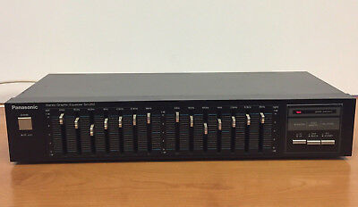 Vintage Panasonic SH-252 Stereo 7 Band Graphic Equalizer w/Tape Input