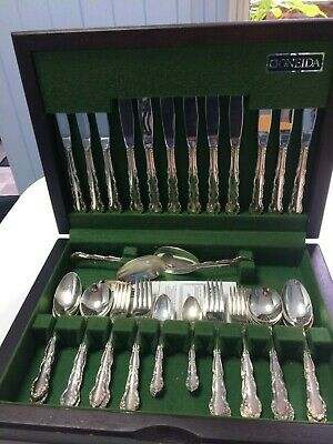 Vintage Silver plated stainless-steel cutlery canteen set 'Oneida' EPNS 44 piece
