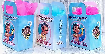 Baby Moana cute Birthday Party Bag Personalised Favour, Treat Gift Sweets Box x1