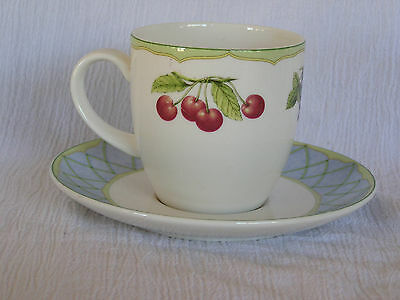 Mikasa Optima Y4001 Fruit Rapture Tea Coffee Cup & Saucer NICE! Retired