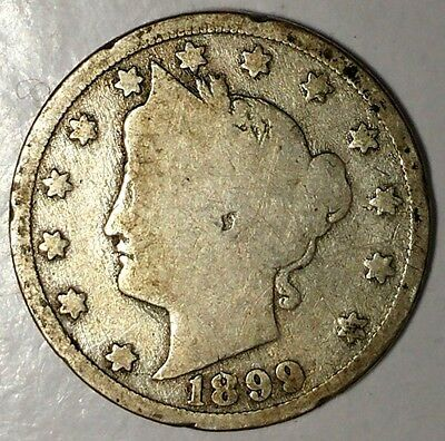 1899-P 5C Liberty Head Nickel 18ct1103 Only 50 Cents for Shipping