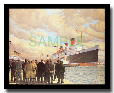 Cunard liner Queen Mary at Southampton