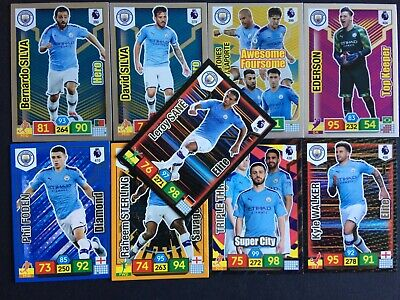 Panini Adrenalyn Xl Premier League 2019/20 Man City 9  Card Specials Set
