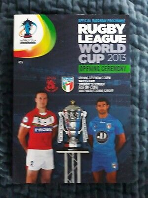 2013-England V Australia-Wales Italy-World Cup Opening Ceremony-Rugby Programme