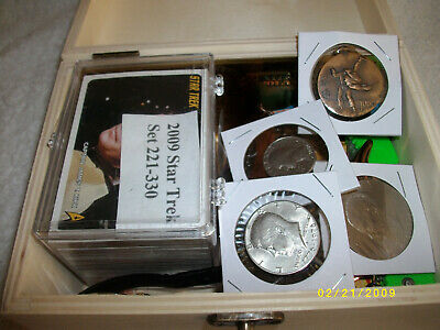 Junk Drawer Lot/Bicentinnial Set-Ike Kennedy Quarter/Metal/Silver Coin/Etc