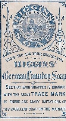 1800s ANTIQUE NELLIE GET A CAKE OF HIGGING'S GERMAN LAUNDRY SOAP.*