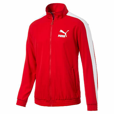 PUMA Men's Iconic T7 Red Track Jacket Woven 57797711 NEW!