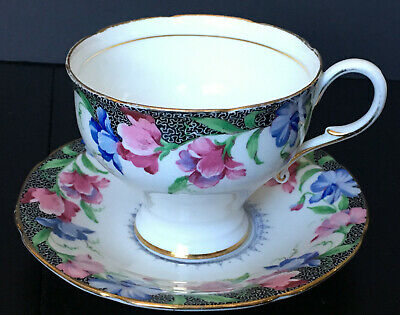 Vintage Paragon Sweet Pea Corset Waist Cup And Saucer