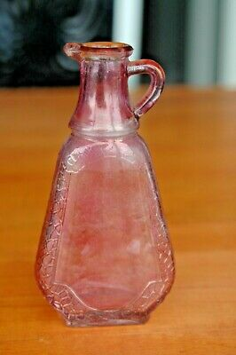 Vintage Knox Glass Company Pink Flash Pitcher or Bottle With Keystone Mark