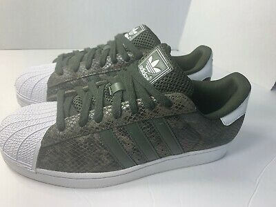 designer fashion available arriving ADIDAS ORIGINALS SUPERSTAR Shell Toe Snake Skin Olive-Green ...