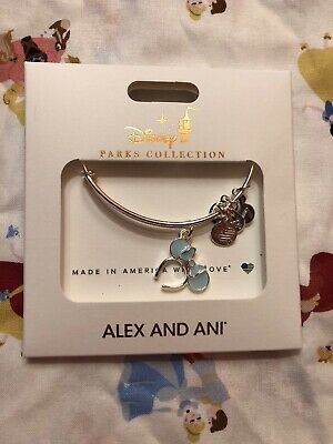 Disney Parks Alex And Ani Arendelle Frozen Aqua Minnie Ears Bracelet NEW!