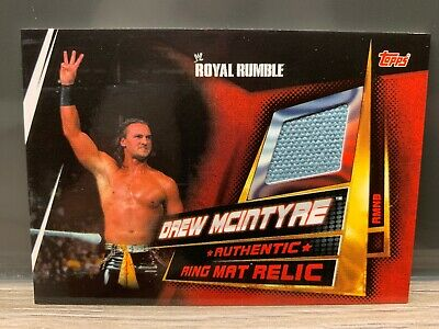 WWE Slam Attax Universe Drew McIntyre Ring Mat Relic Card Topps