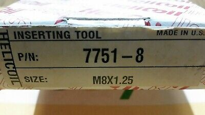 Helicoil 7751-8 Threaded Mandrel Inserting Hand Tool for M8-1.25 Inserts