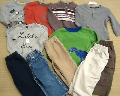 Baby Boy Size 18 Month Clothes Lot Mostly Carter's 6 Tops 5 Pants Very Nice!