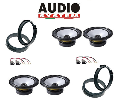 Audiosystem Set 4 Haut Parleur pour VW New Beethe <10 + Raccords / Adaptateurs
