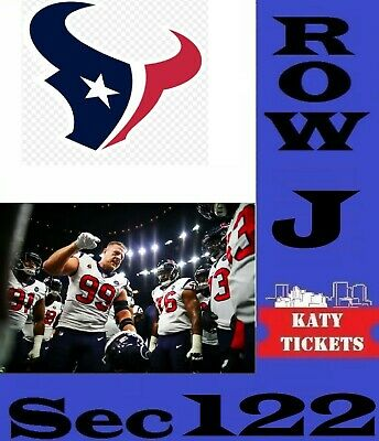 2 TIX Houston Texans vs Jacksonville Jaguars Reliant Stadium  9/15/19