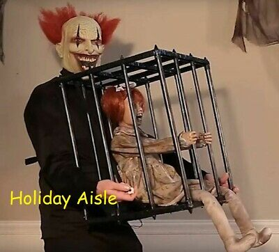 """ANIMATED CAGED KID COSTUME ACCESSORY Halloween Prop 32"""" High"""