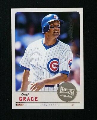 Mark Grace 2019 Topps Archives Snapshots Chicago Cubs AS-MG