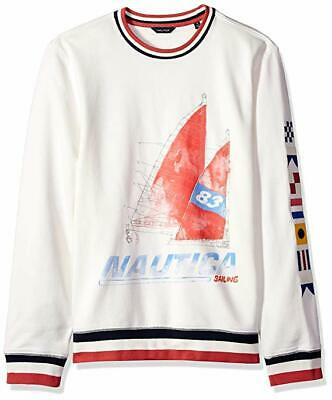 Nautica Artist Series Sailboat Crew Neck Sweatshirt Xl