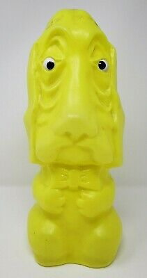 Gregg Products Dog Blow Mold Bank NEON Green