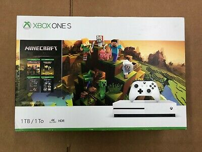 BRAND NEW Xbox One S 1TB Console - Minecraft Creators Bundle XBOX ONE S W/ GAME
