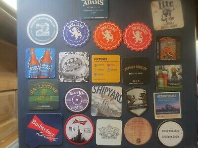 22 Different  AMERICAN Breweries  Issue collectable BEER COASTERS
