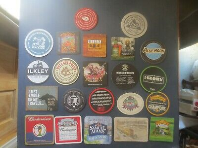 22 Different  AMERICAN Breweries  Issue collectable BEER COASTERS B