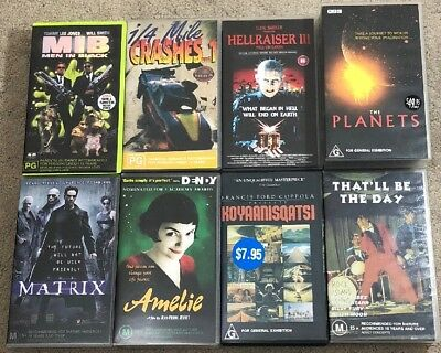 8 Vhs Collectable Bundle Lot Pack