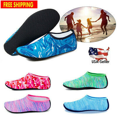 Men Women Water Shoes Barefoot Aqua Socks Quick-Dry Beach Swim Exercise Adult
