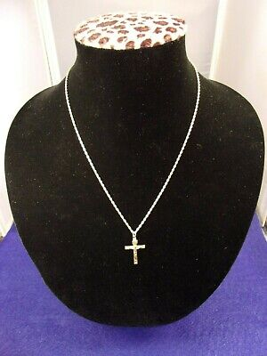 #2 of 6, BEAUTIFUL OLD VTG ANTIQUE YELLOW GOLD FILLED CRUCIFIX PENDANT +NECKLACE