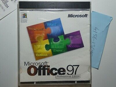 Microsoft Office 97 Professional Installation Disk and Key (Previously used)