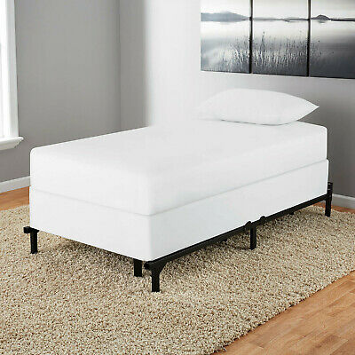 Mainstays 7In Adjustable Metal Bed Frame,Easy No-Tools Assembly, Twin/Full/Queen
