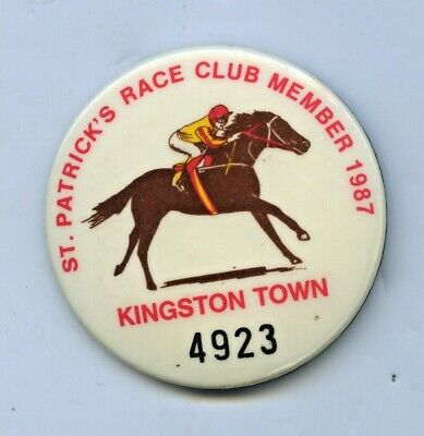 1987 St.patrick's Race Club Member Race Horse Melbourne Cup Winner Kingston Town