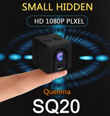 Nuova Quelima Authentic SQ20 Mini DVR Loop Video Recorder HD Portable Sports DV.