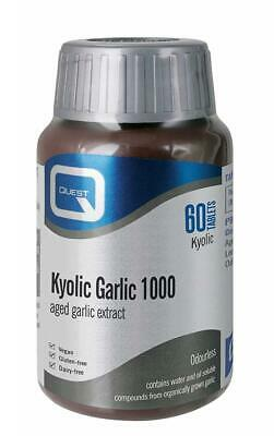 Quest Kyolic Garlic 1000mg - Aged Extract - 60 Tablets Pack of 1