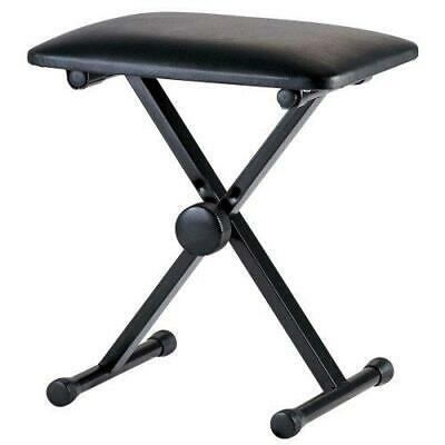 RayGar Keyboard Piano Bench Stool Seat Adjustable Folding X Frame Strong...