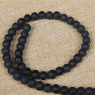 "6 mm frosted agate Loose bead Making Jewelry 1PCS 15"" Charm Beaded Lots Shining"