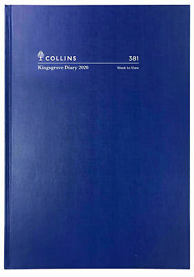 2020 Diary◉COLLINS◉Kingsgrove◉A5 Week To View Opening◉Hardcover◉381.P59-20◉Blue◉