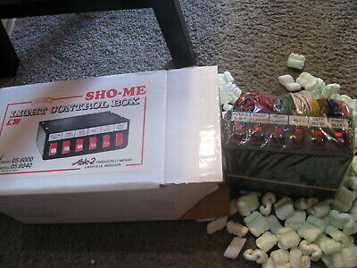 NEW Vintage Police Security SHO-ME Light Control Box 6 position  # 05.6000