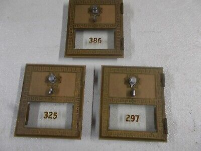 3 Vintage Post Office Box #2 Doors Bank Lock Box Door in Original Condition