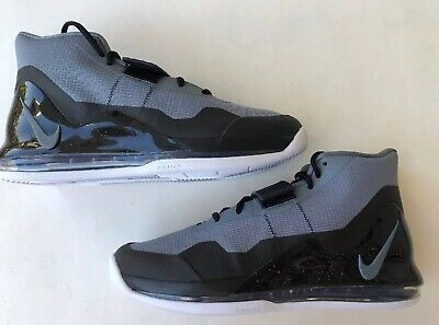 Nike Air Force Max Men's Athletic Basketball Shoes Grey Black New AR0974 006