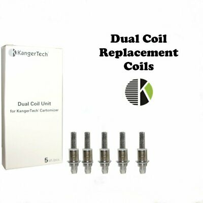 Authentic Kangertech Dual Coil Unit for Kangertech cartomizer 1.5ohm NiCr 5pcs