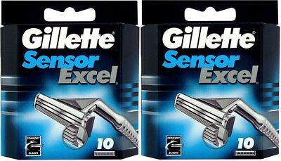2 packs of 10 Gillette Sensor Excel Razor Blades - opened
