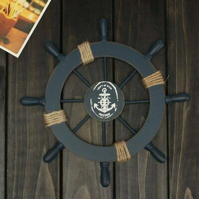 "Wooden Ships Steering Wheel  12"" Helm Nautical Boat Maritime  Wall Prop Decor"